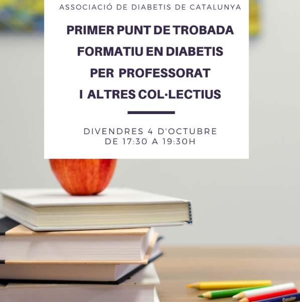 Primer punt de trobada formatiu en diabetis per professorat i altres col·lectius