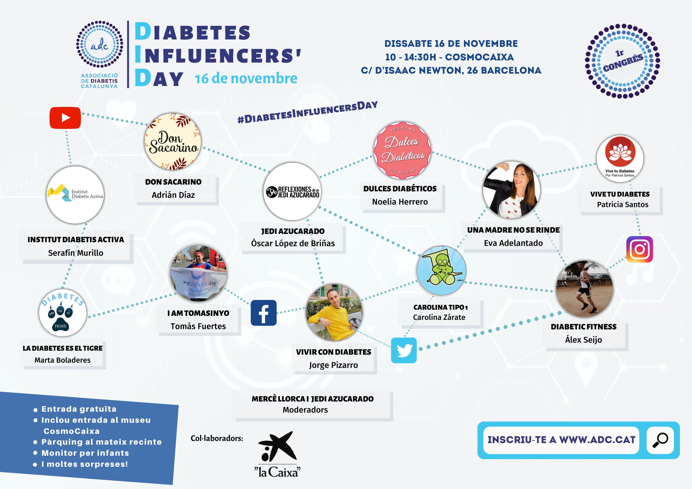 Diabetes Influencers' Day al CosmoCaixa organitzat per l'Associació de Daibetis de Catalunya.