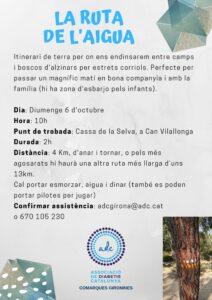Flyer RUTA DE L'AIGUA 6 d'octubre