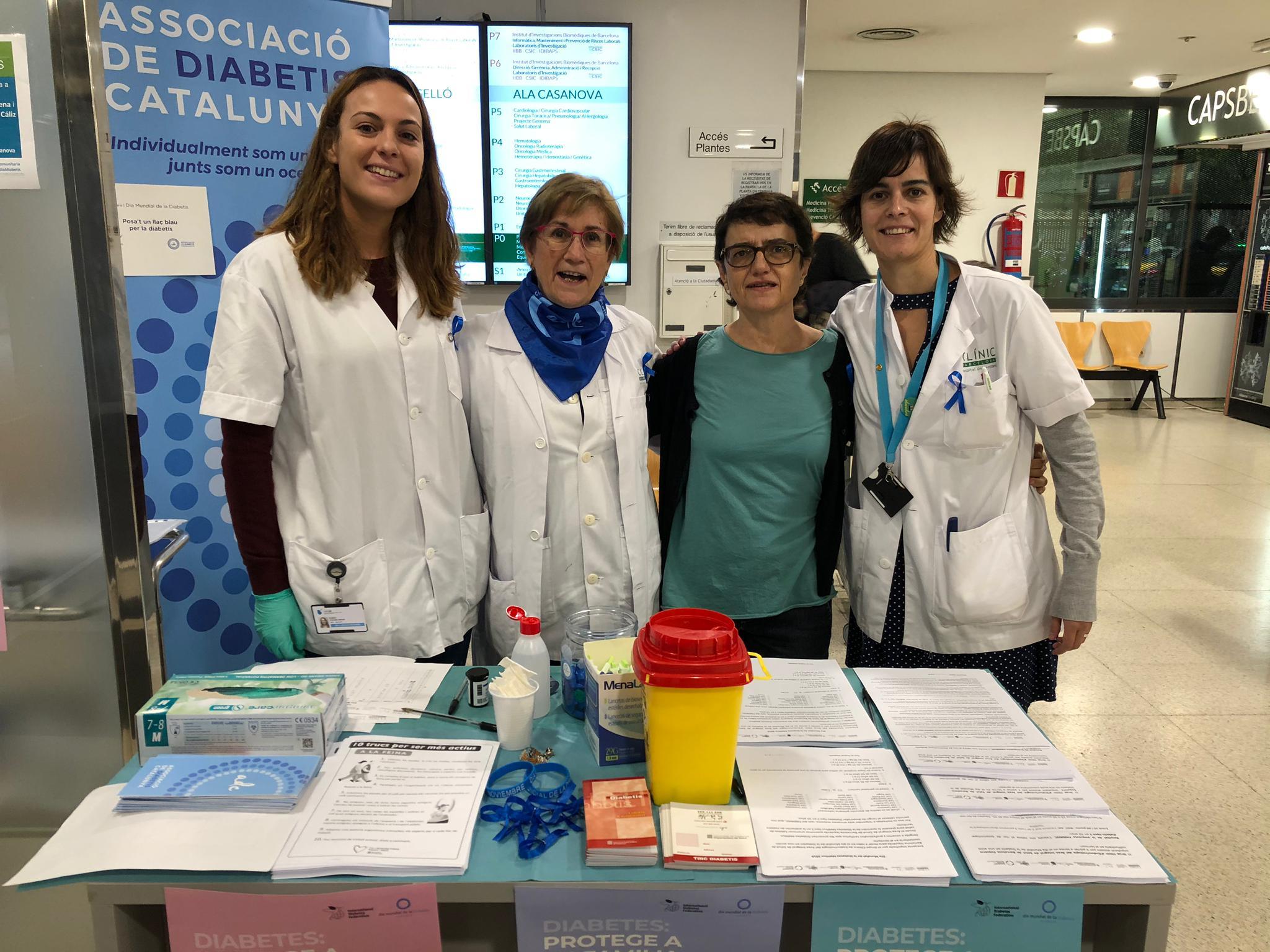 Associació de Diabetis de Catalunya a l'Hospital Clínic.