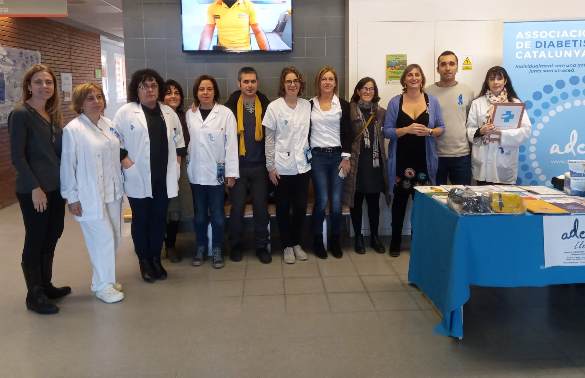 Associació de Diabetis de Catalunya Lleida amb Alba Vergés.