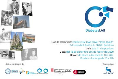 Flyer sobre la Exposición de DiabetesLAB en Barcelona