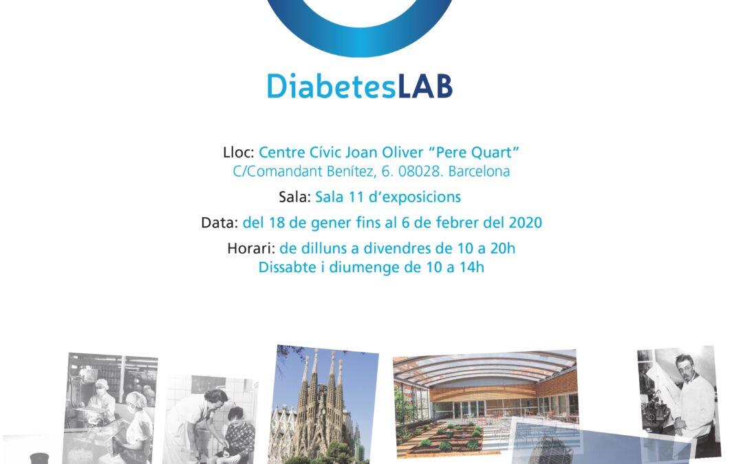 Flyer con fotos y datos sobre DiabetesLab