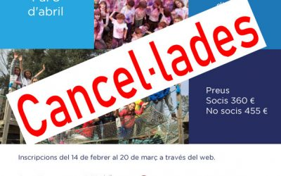 IMPORTANTE: cancelación de las Colonias de Primavera de la ADC por prevención del Coronavirus