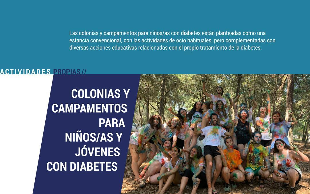Colonias y campamentos para niños con diabetes