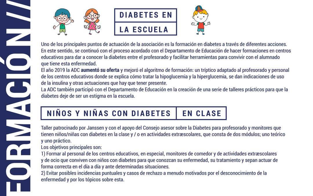 Formación en escuelas sobre diabetes