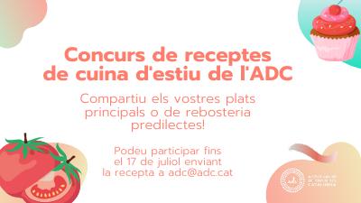 Concurs de receptes de cuina d'estiu de l'ADC (fins el 17 de juliol)