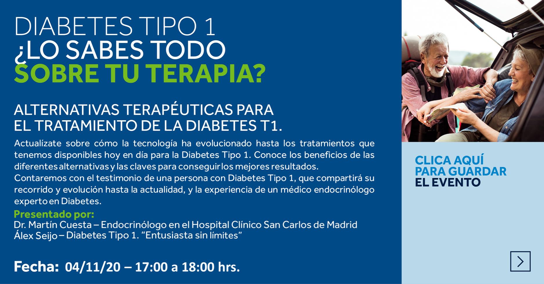 Webinar teràpies Diabetis Tipus 1