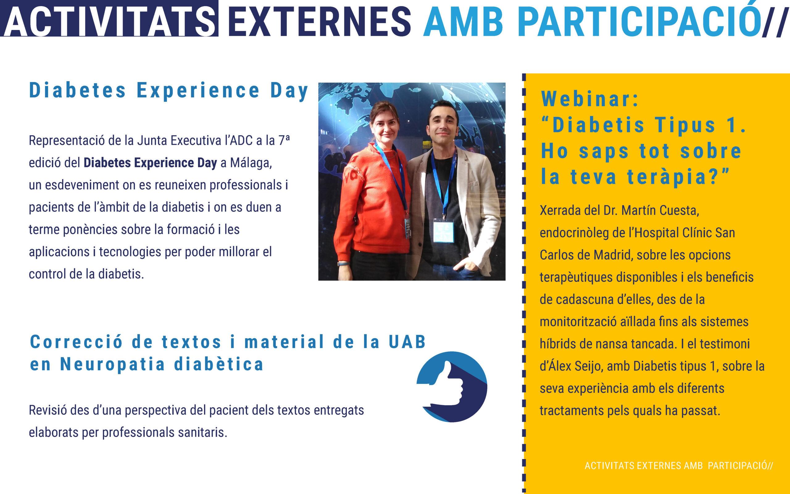 Activitats de l'Associació de diabetis de catalunya