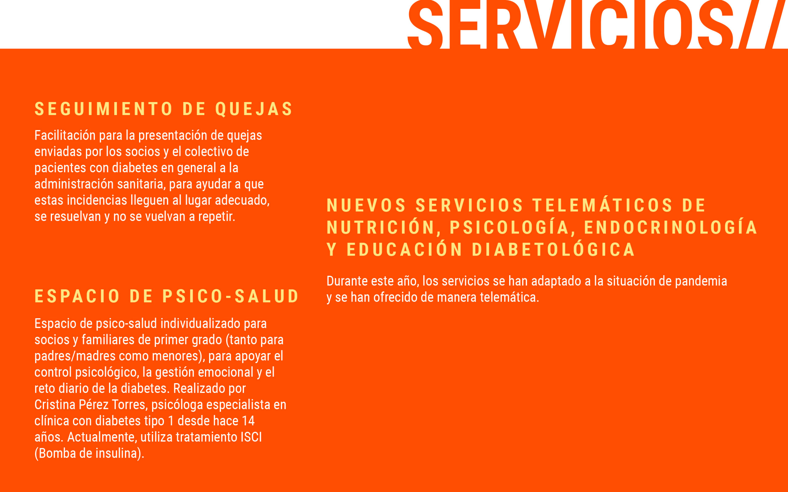 Servicios de la ADC