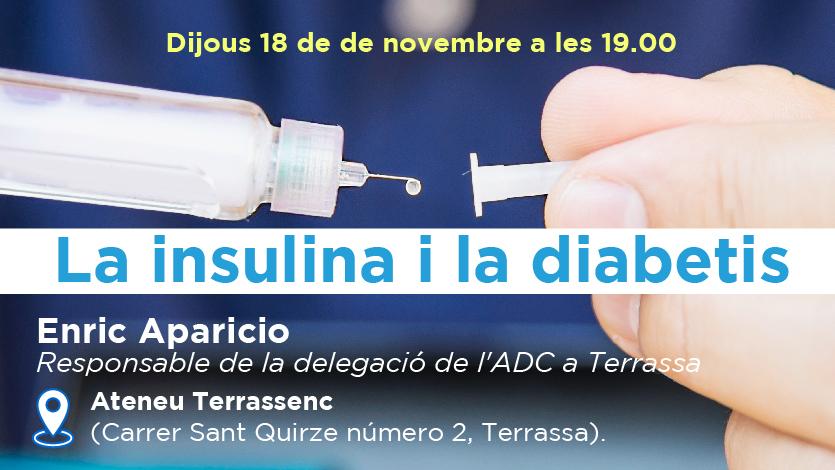 La insulina i la diabetis ADC Terrassa Dia Mundial de la Diabetis Diabetes